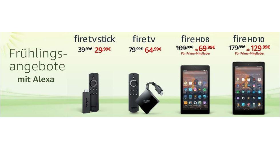 fr hlings angebote dicke rabatte auf amazon ger te tablets fire tv. Black Bedroom Furniture Sets. Home Design Ideas