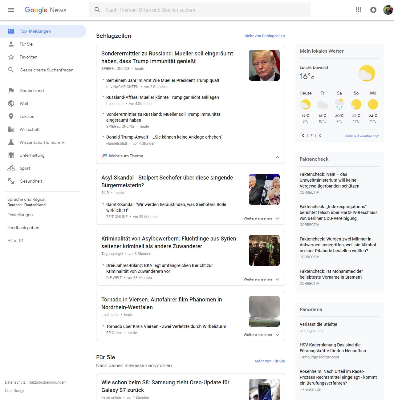 Google News Update 2018
