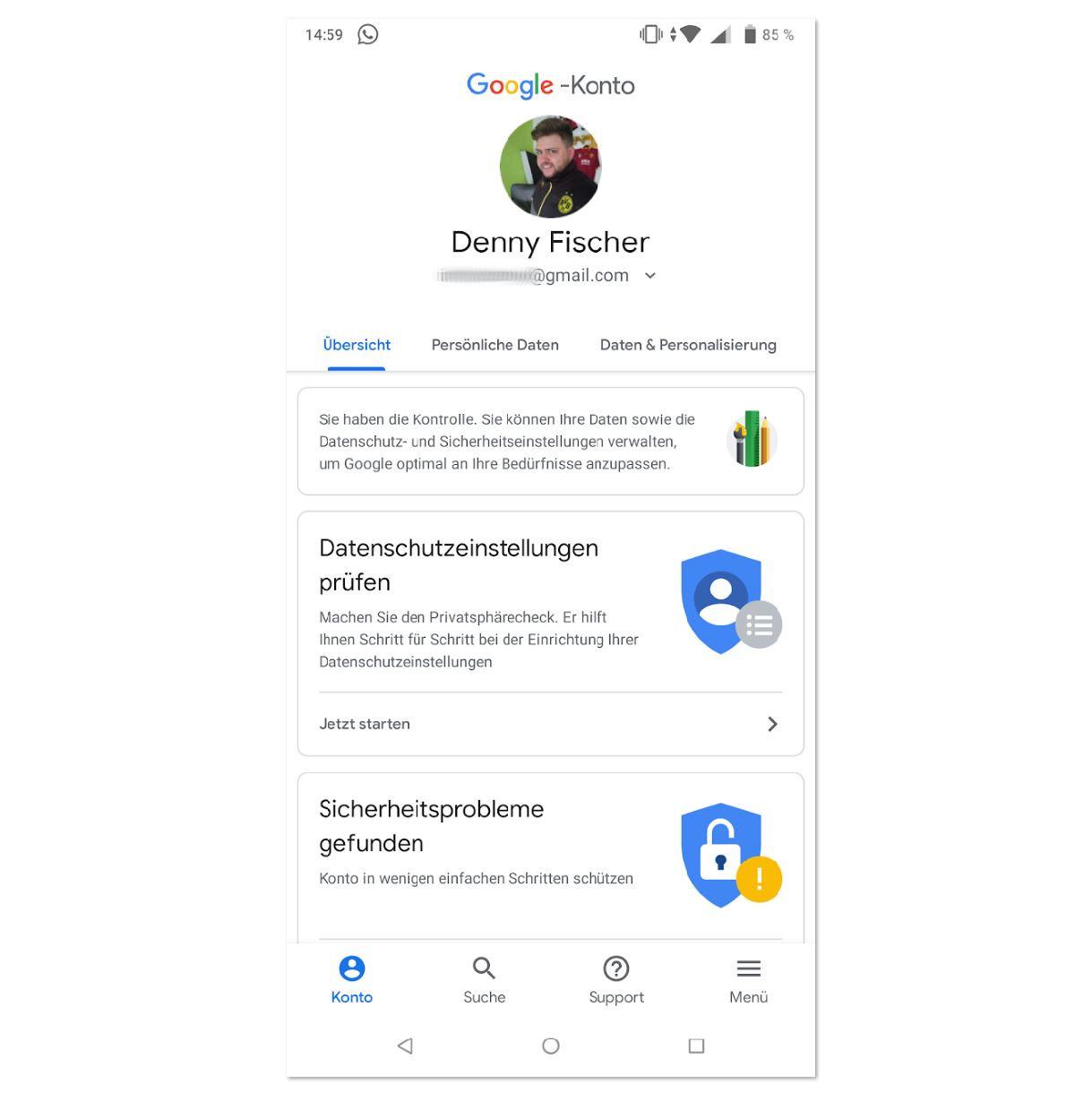 Google-Konto Update Juni 2018 (2)