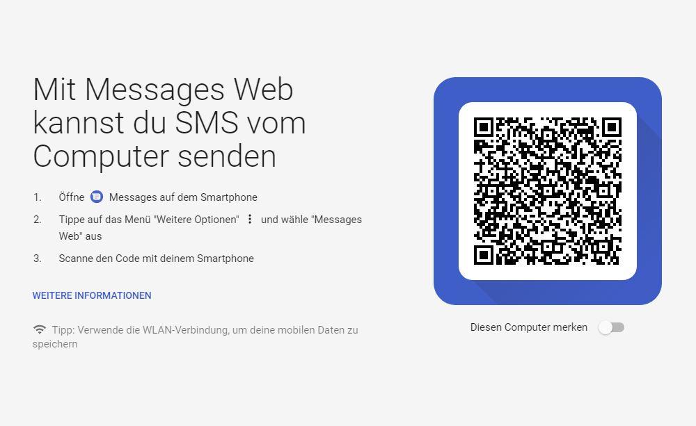 Messages Web Screenshot