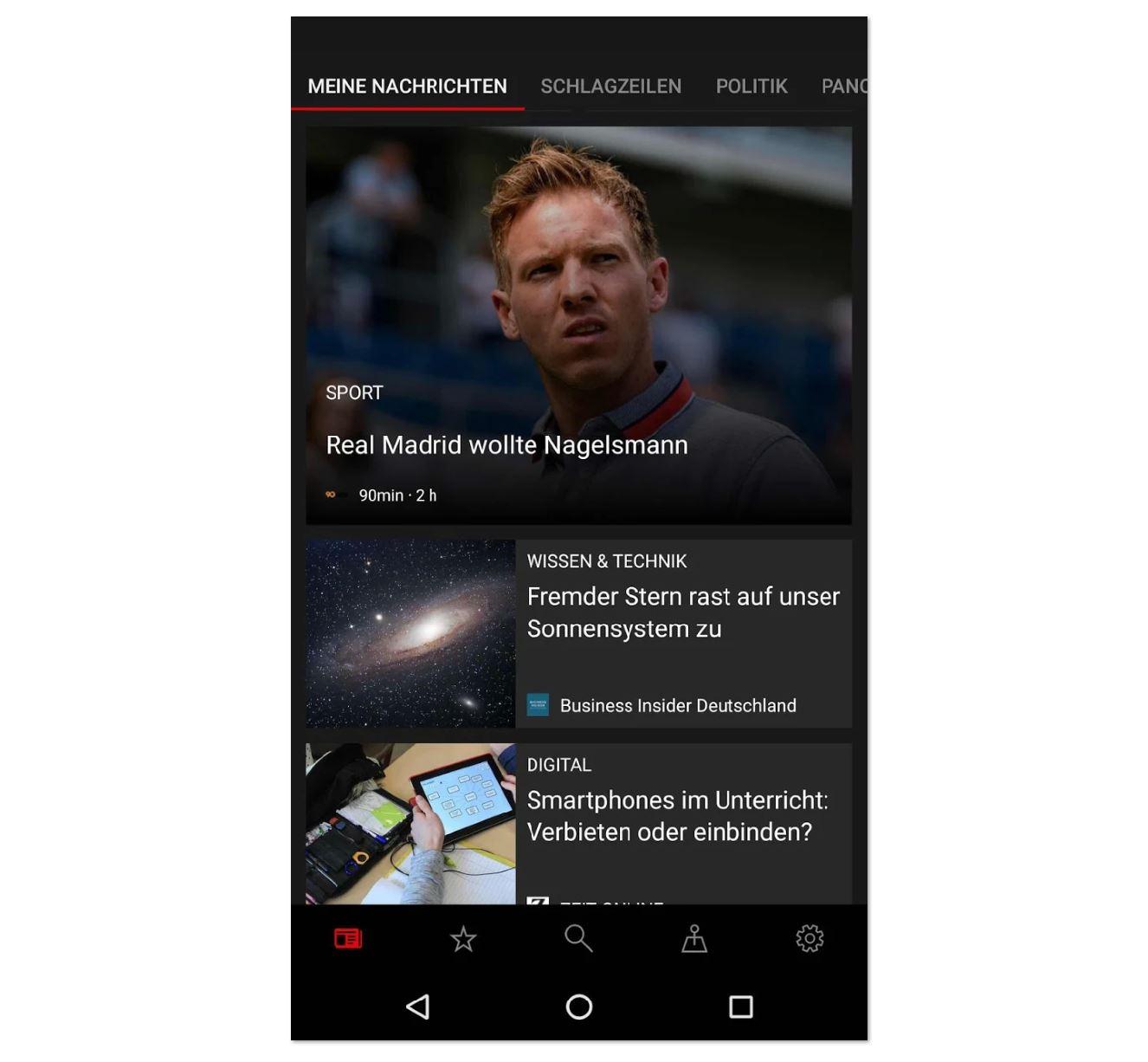 Microsoft News Screenshot