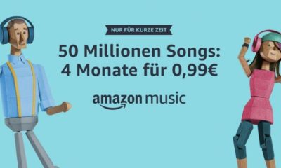 Amazon Music Unlimited 4 Monate 99 Cent Aktion Juli 2018