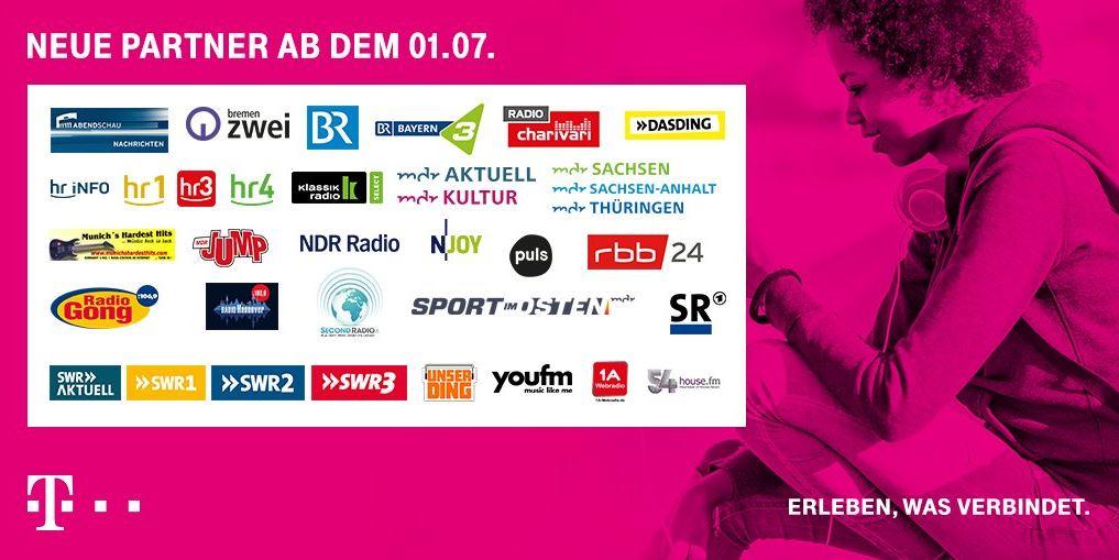 Telekom StreamOn Juli 2018