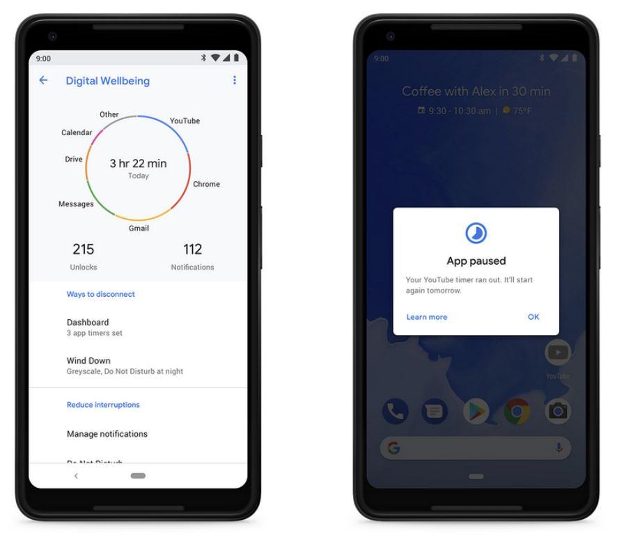 Digitales Wohlbefinden Android 9 Pie