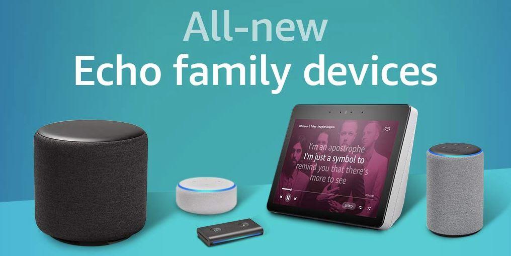 Amazon Echo Familie 2018