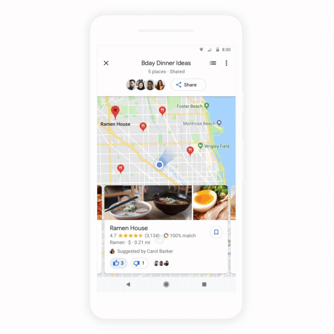 Google Maps Gruppenabstimmung