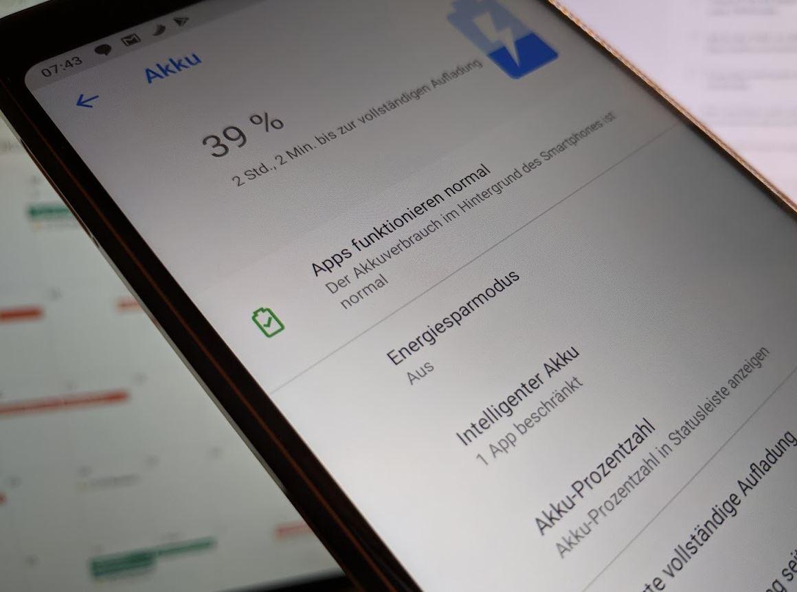 Android 9 Pie Akkueinstellungen Screenshot Header