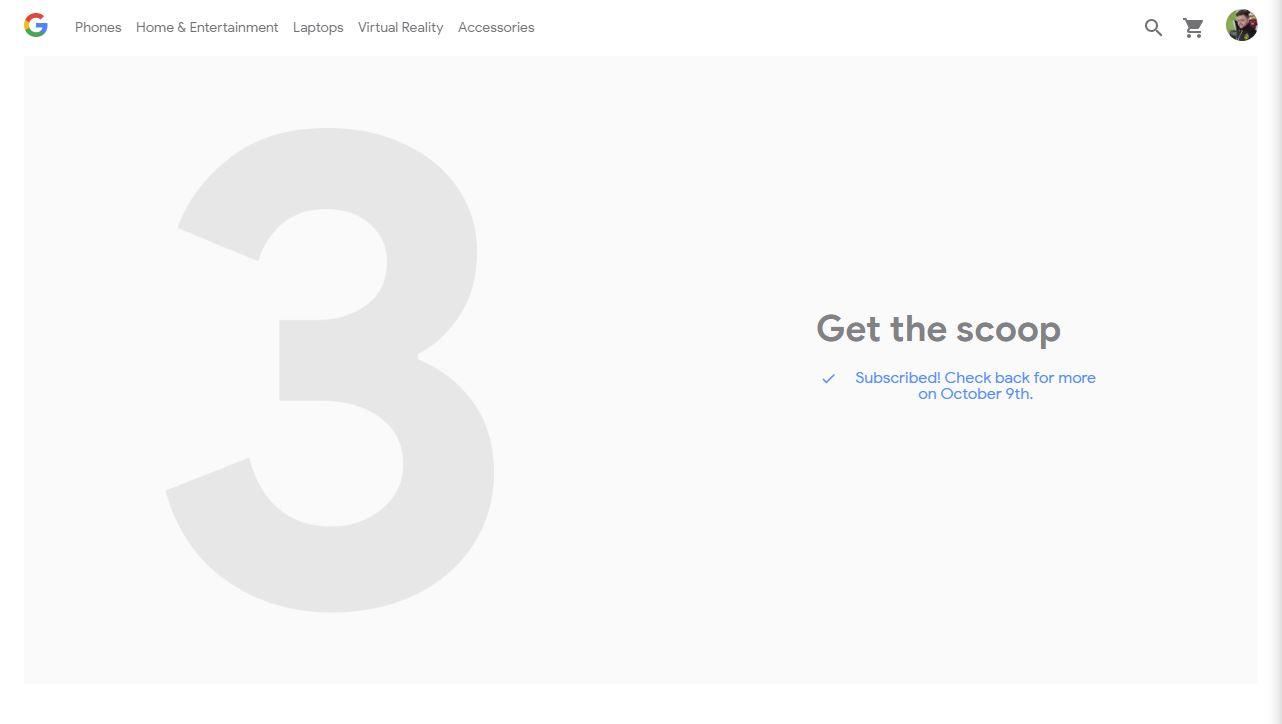 Google pixel 3 Event Store Teaser