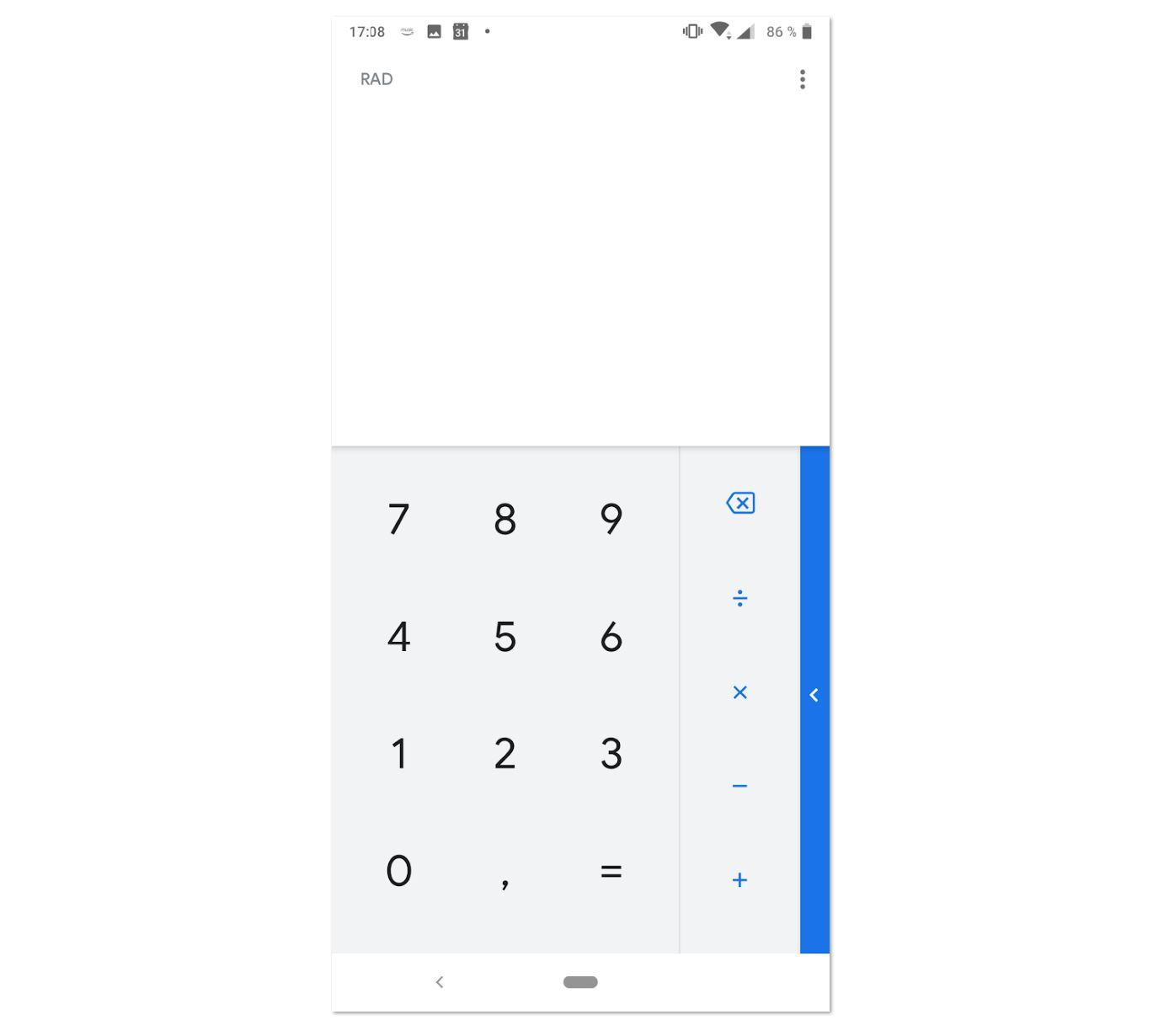 Google Rechner Update 7.5