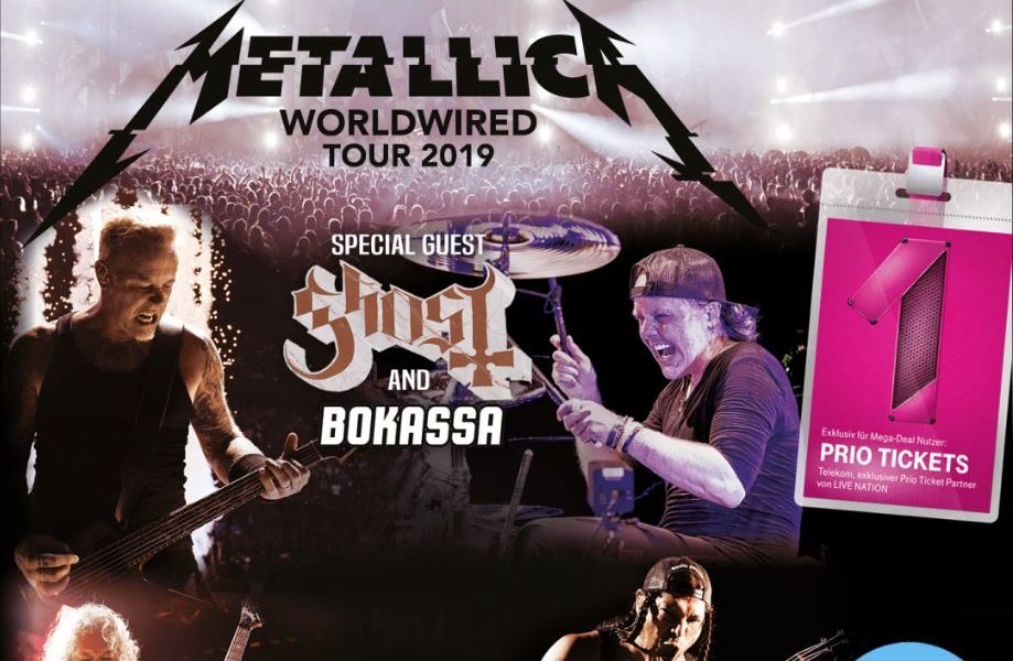 telekom mega deal metallica tickets im exklusiven vorverkauf. Black Bedroom Furniture Sets. Home Design Ideas