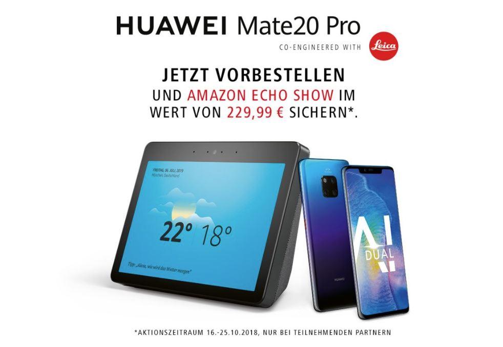 Huawei Mate 20 Pro Amazon Echo Show
