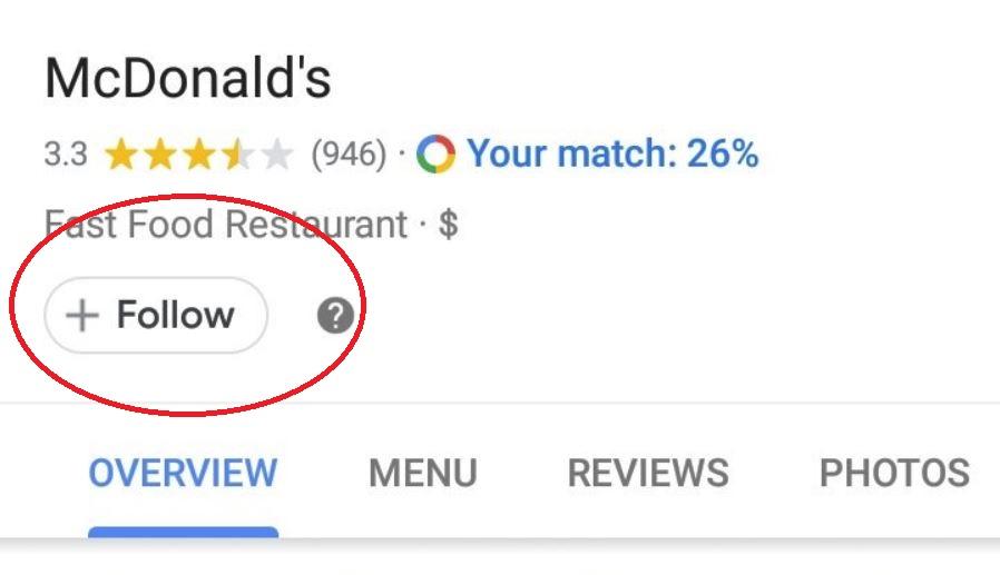 Google Maps Folgen taste