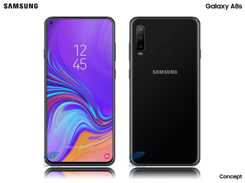 Samsung Galaxy A8s: So könnte erstes Smartphone mit Golfplatz-Display aussehen