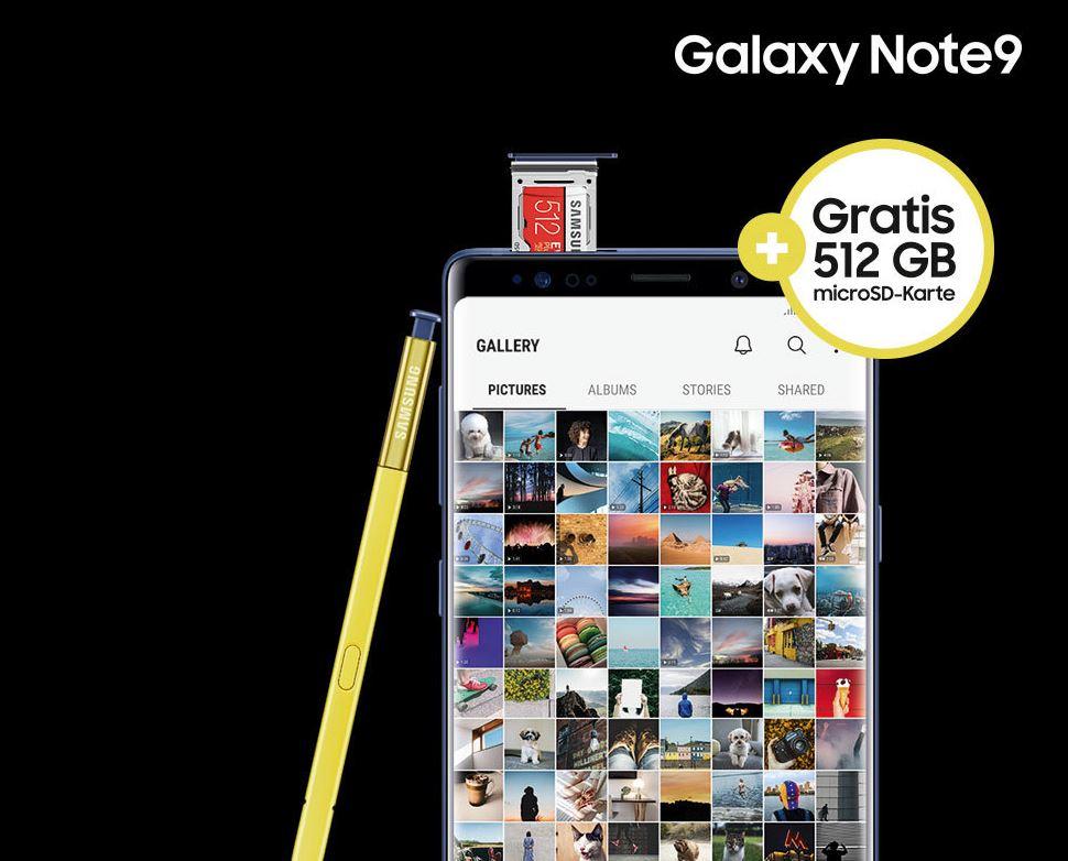 Samsung Galaxy Note9 Speicherkarte Aktion