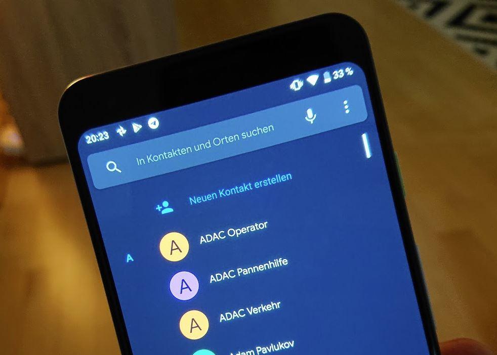 Telefon-App dunkles Design