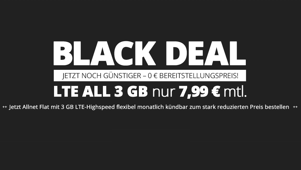 winSIM Black Deal 3 GB Allnet Flatrate