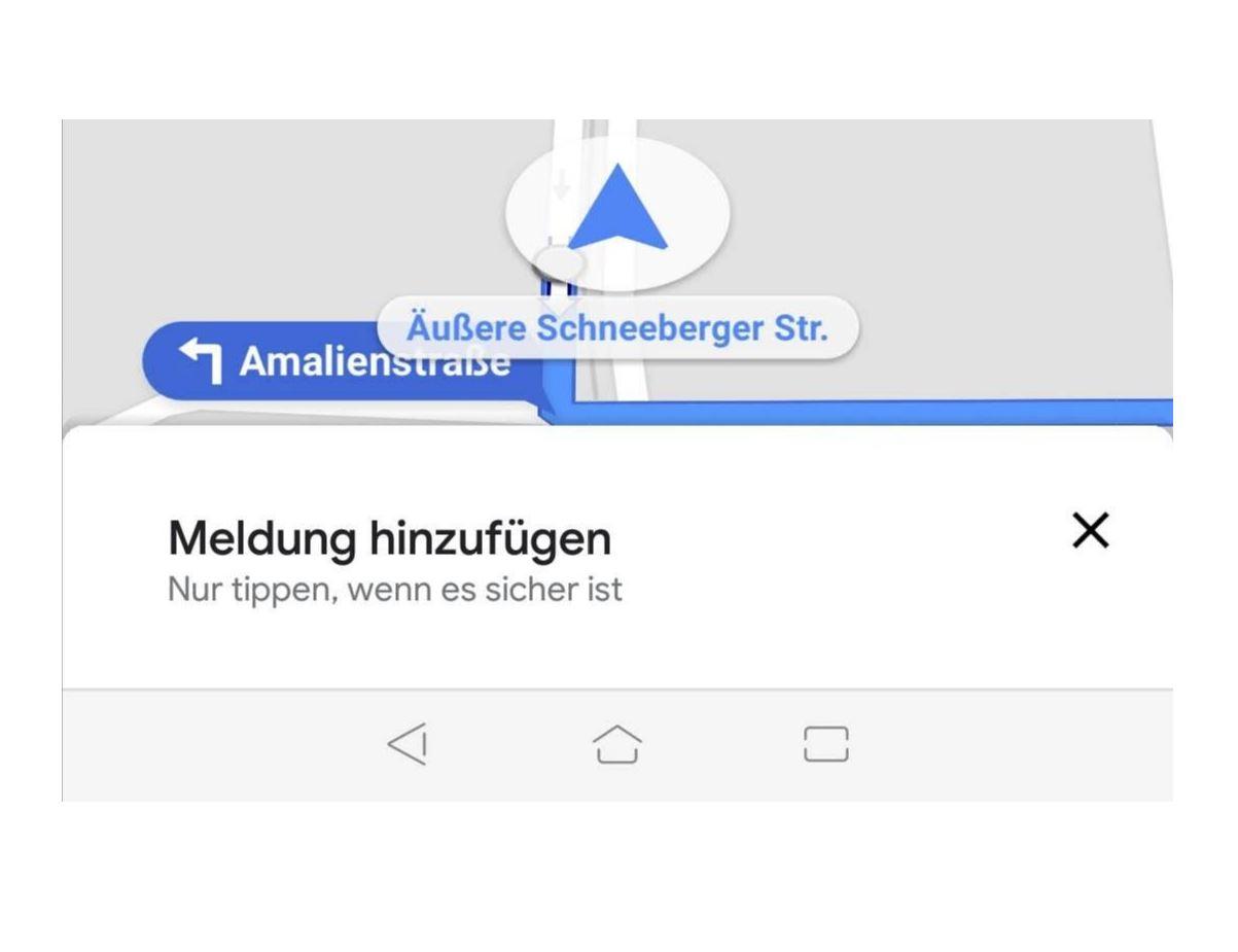 Google Maps Meldung hinzufügen (2)