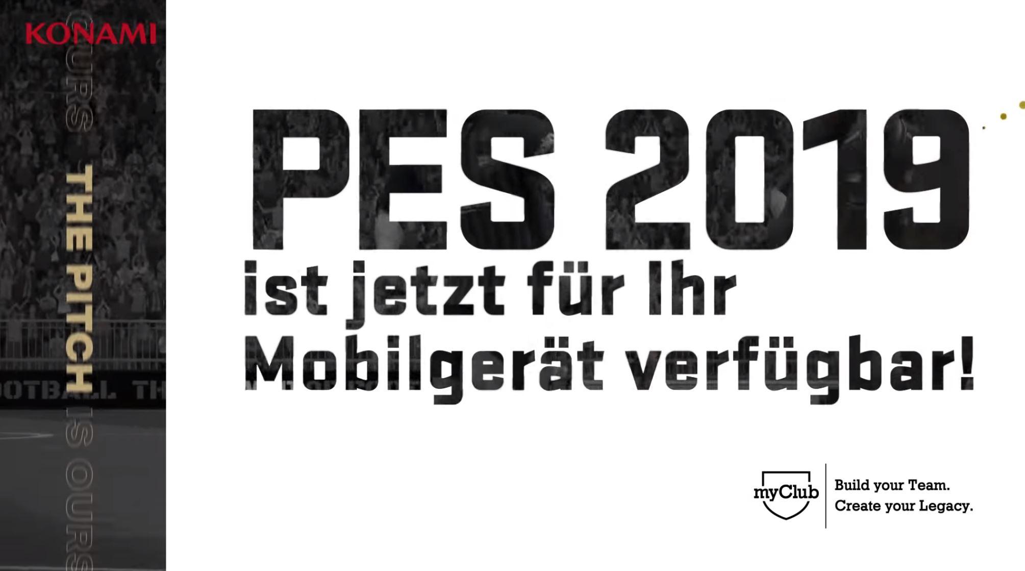 PES 2019 Mobile für Android veröffentlicht