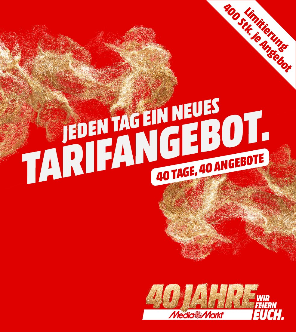 40 Jahre MediaMarkt Tarifwelt Angebote