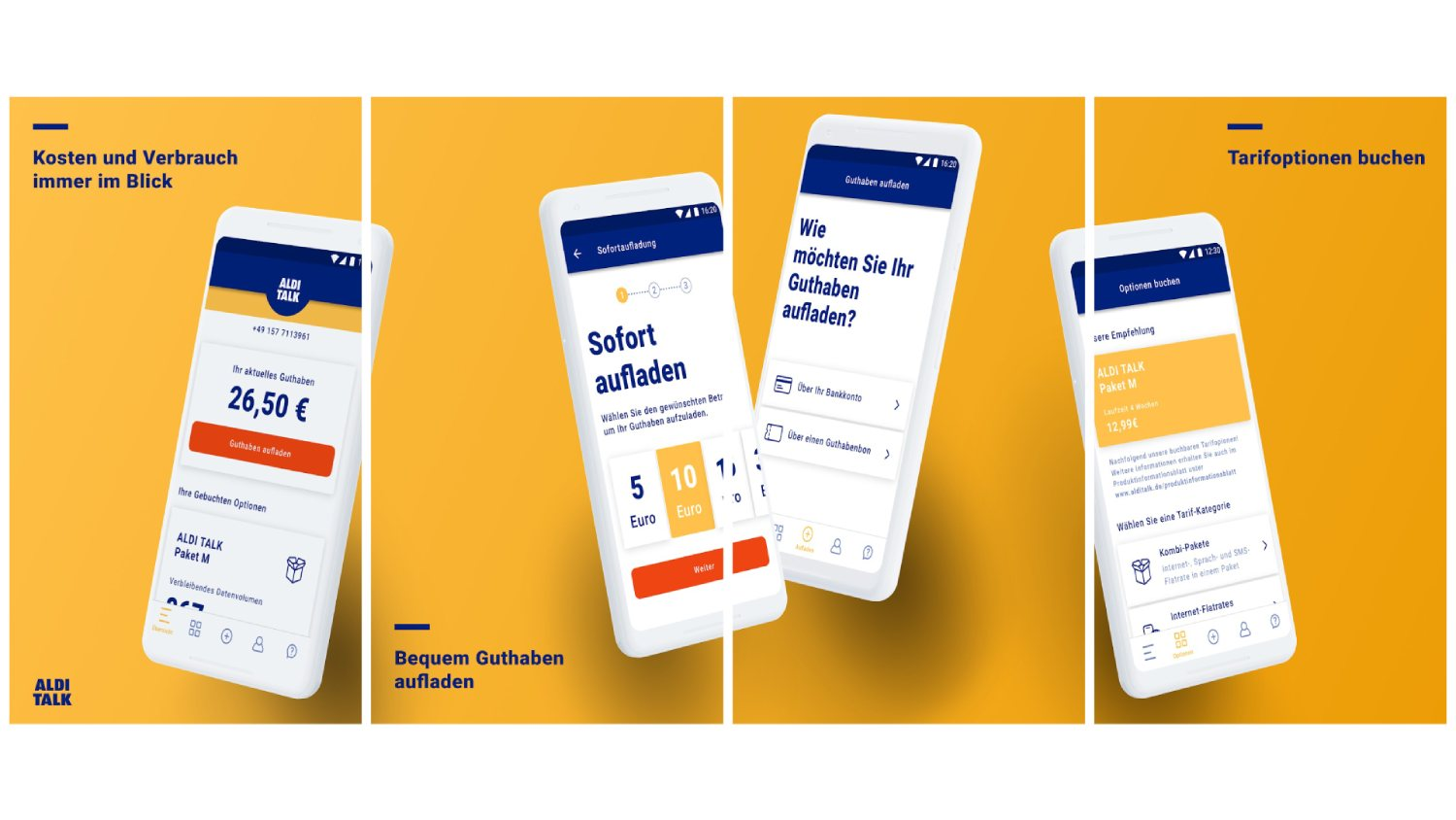 Aldi talk App Header