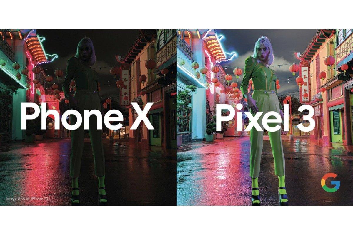 Pixel 3 iPhone X Nachtmodus