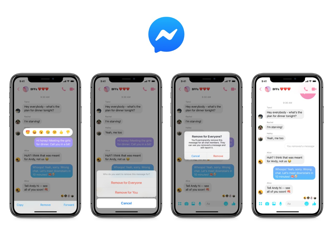 Messenger Nachrichten Löschen 2019 Header