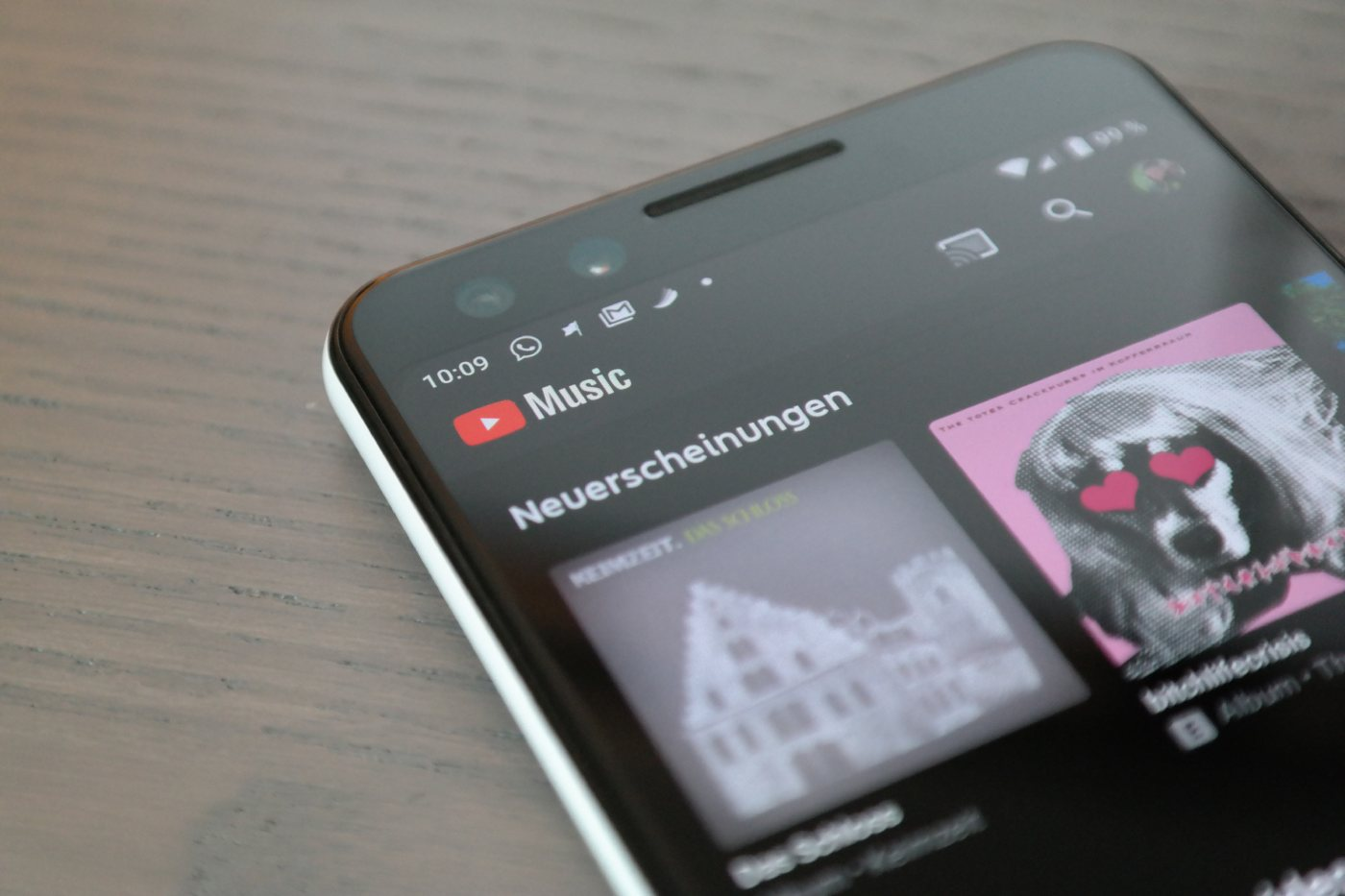 YouTube Music Header