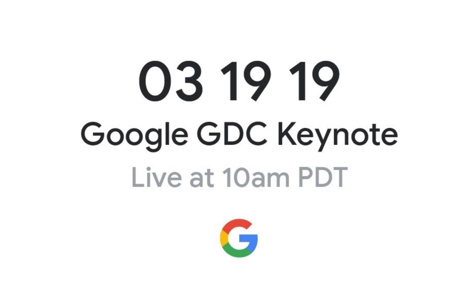 Google GDC Livestream Teaser