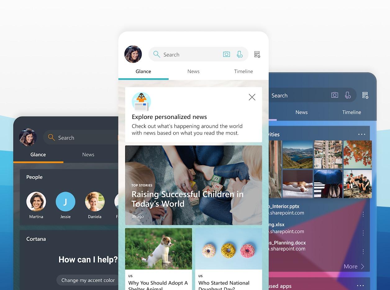 Microsoft Launcher Personalisierung Header