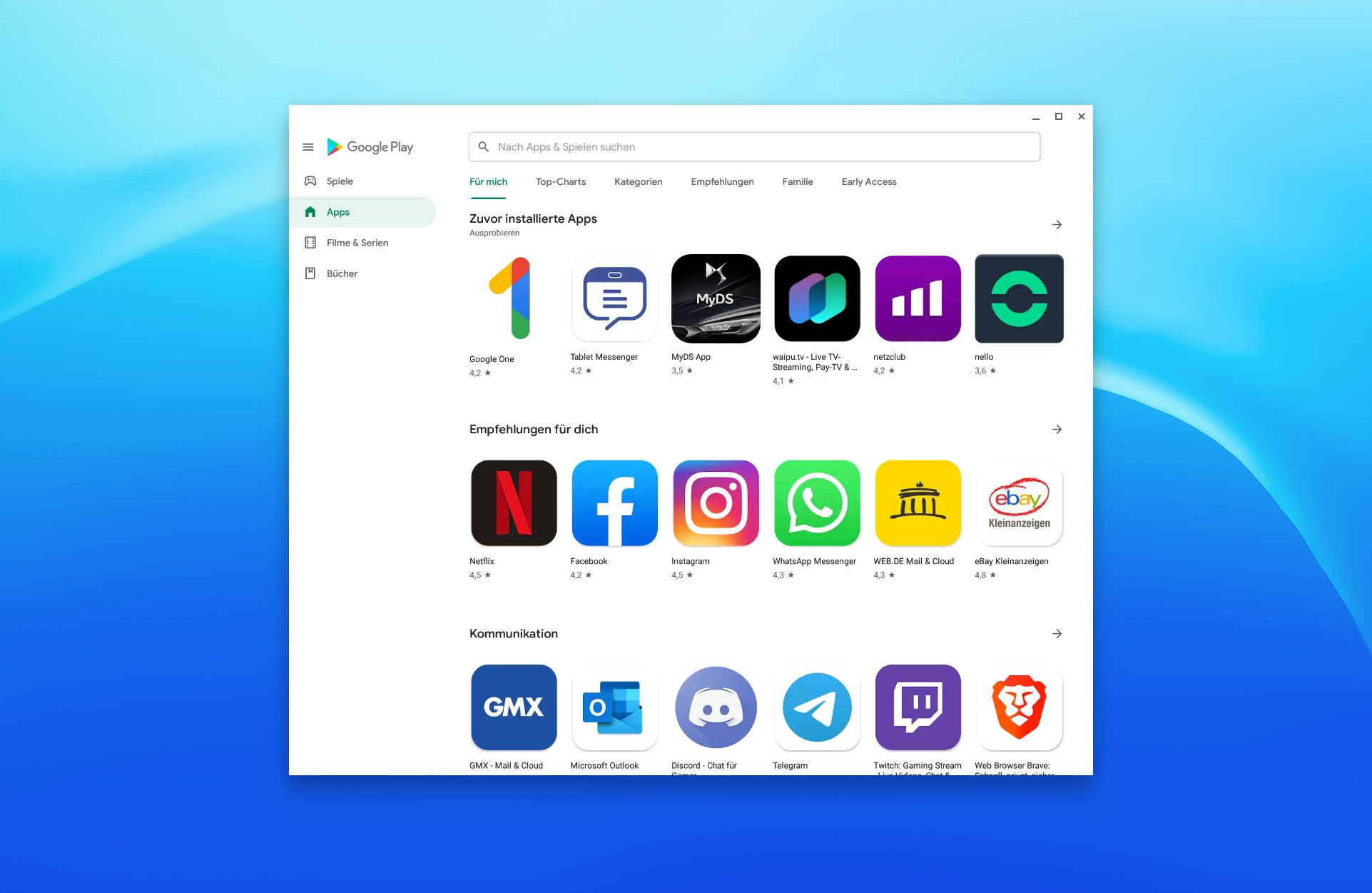 Google Play Store 2019 Design Header