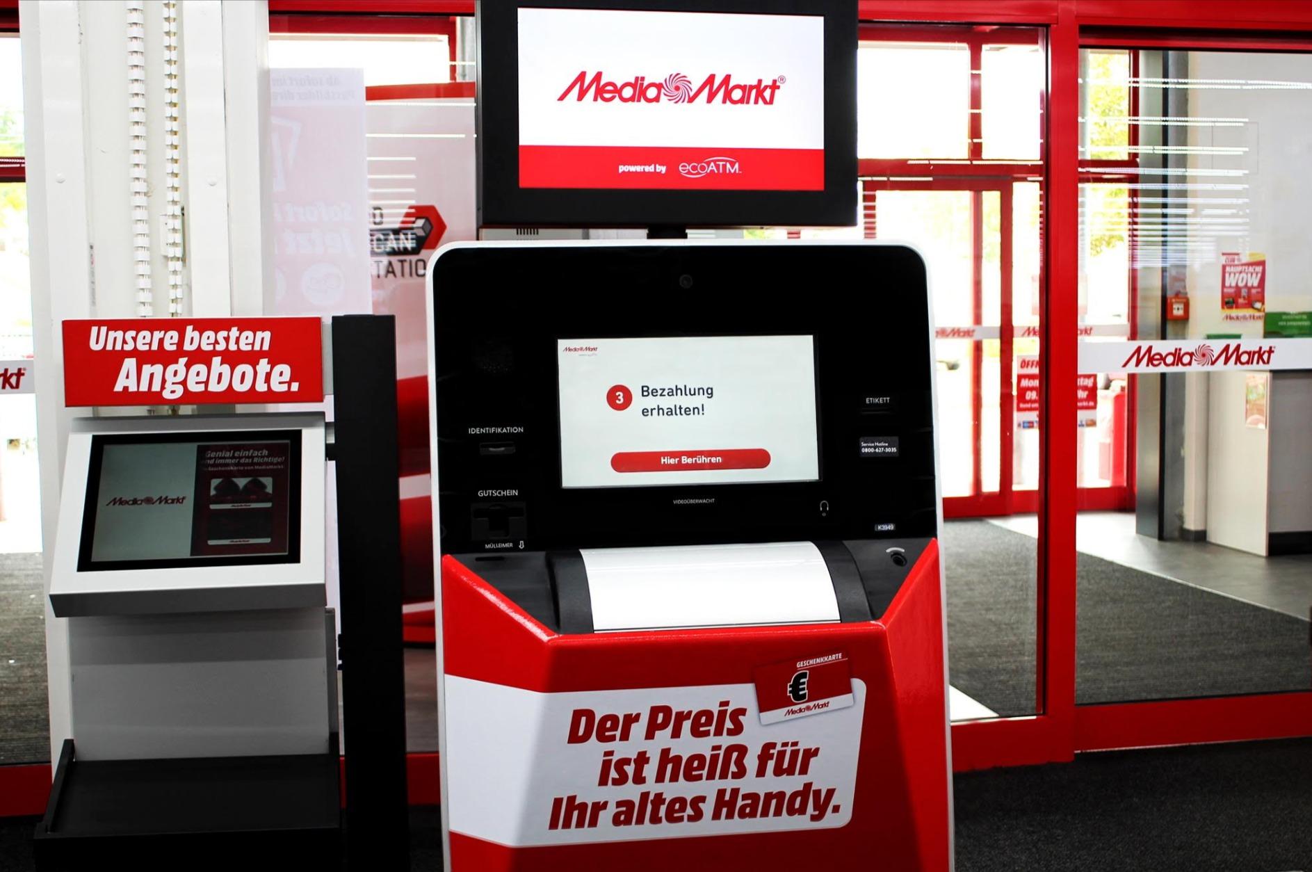 Media-Markt testet Automat für alte Handys