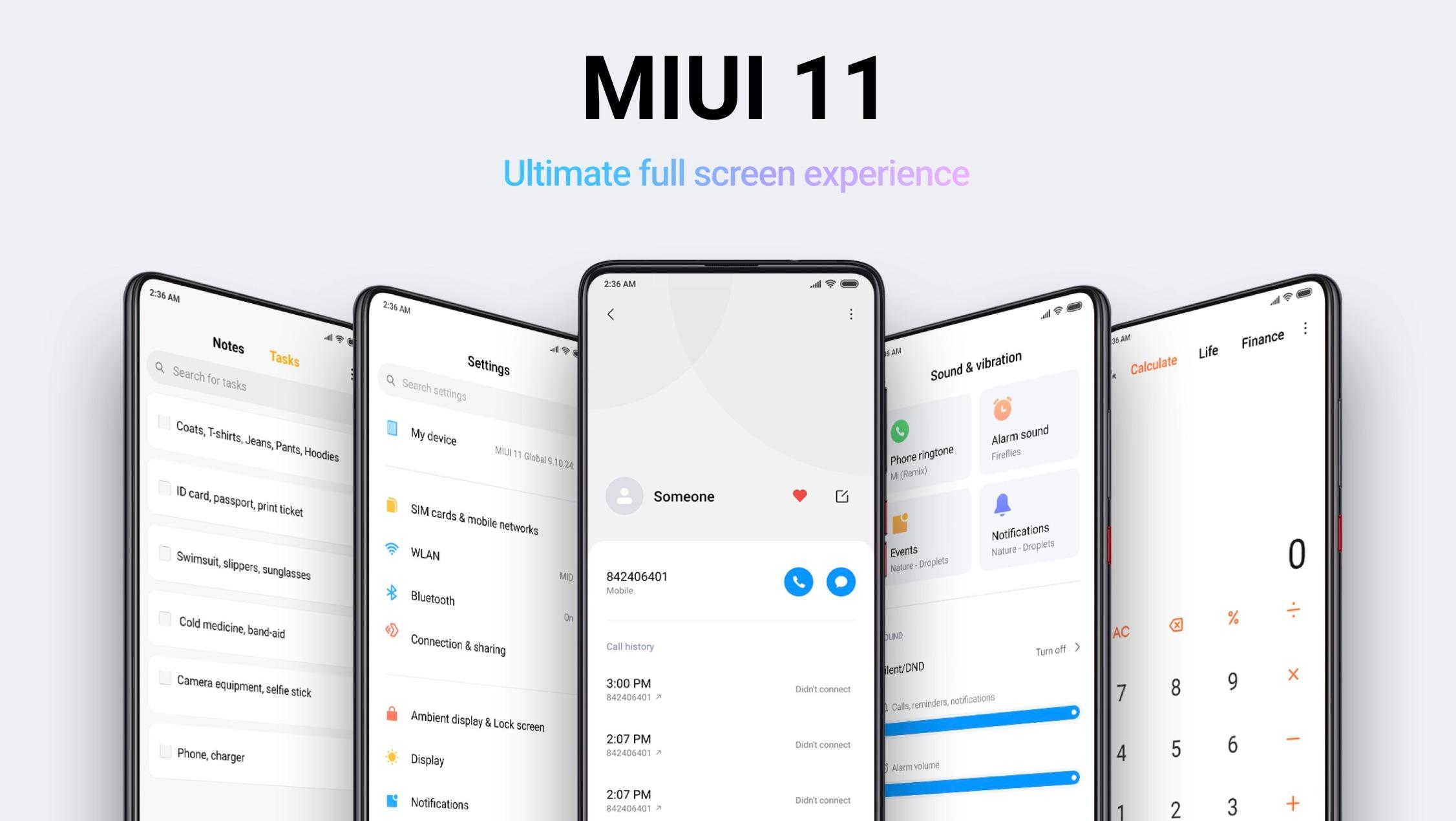 MIUI 11 Header Titelbild