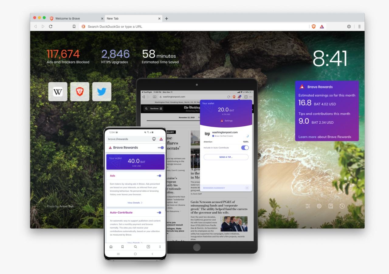 Brave Browser Header