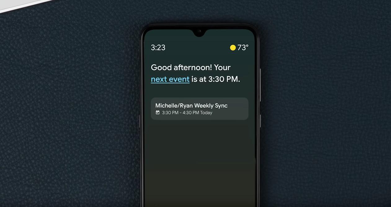 Google Assistant Ambiente Umgebung Modus