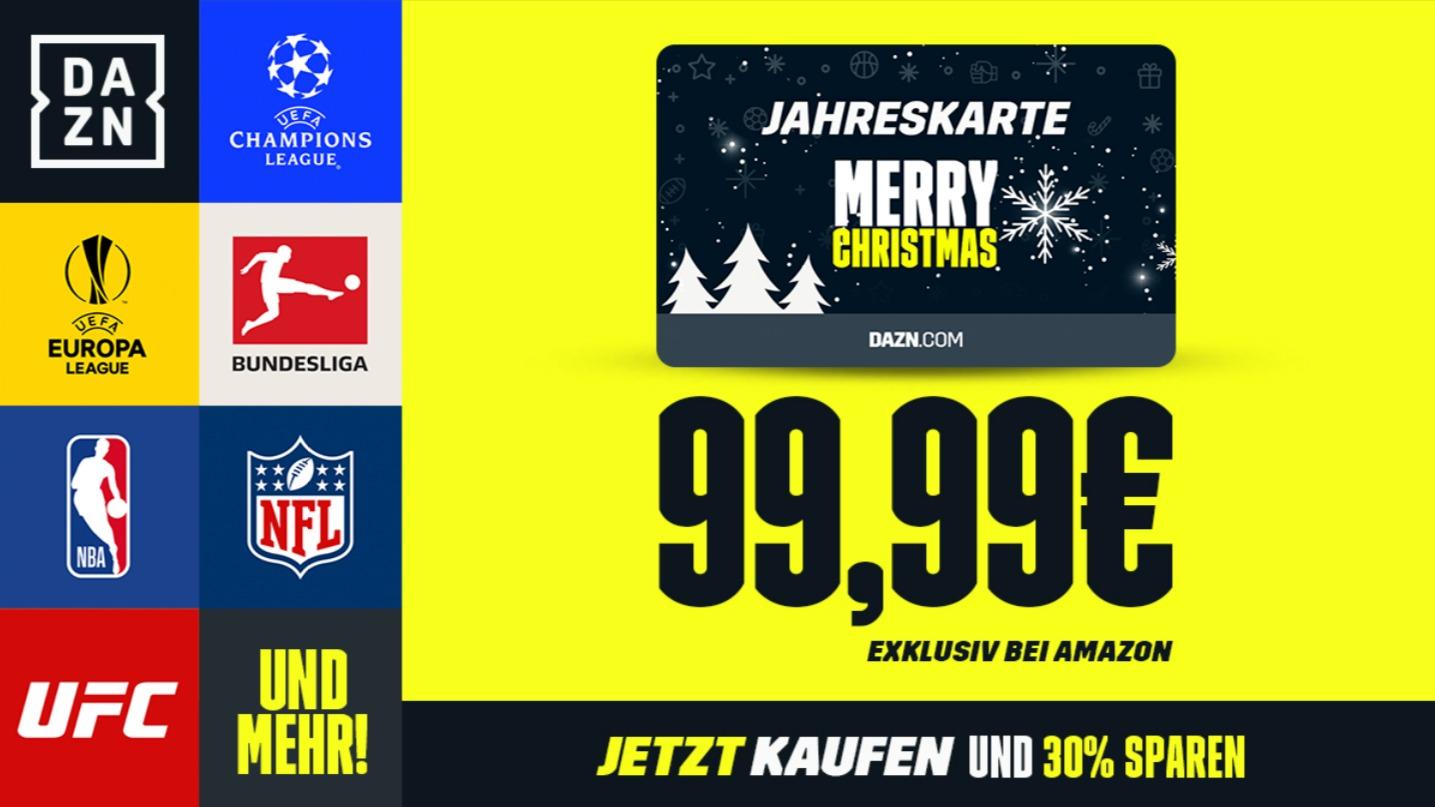DAZN Weihnachten Gutscheinkarte 2019