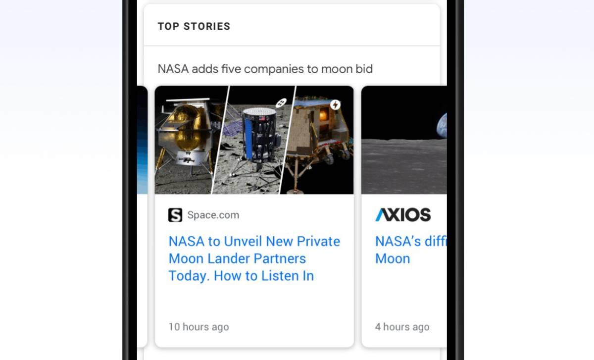 Google News Karussell Top Stories