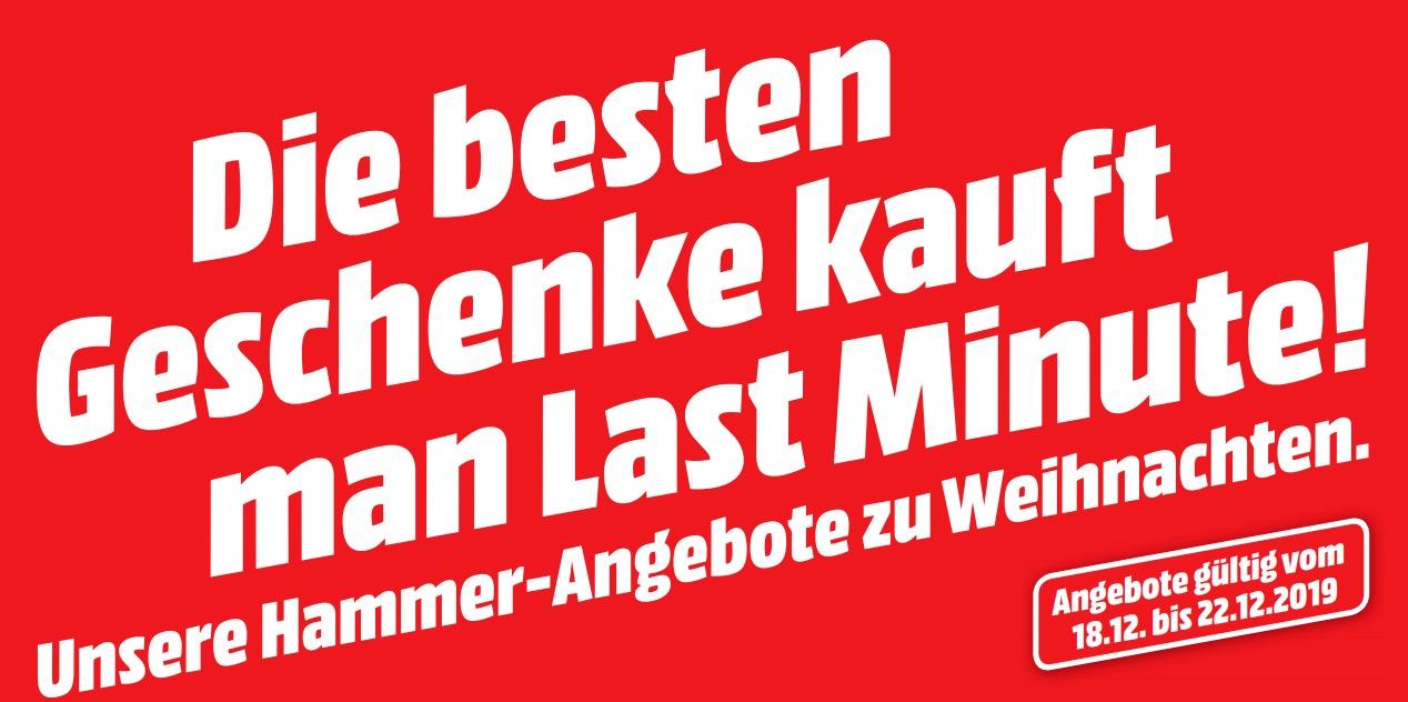 MediaMarkt Last Minute Geschenke Flyer 2019