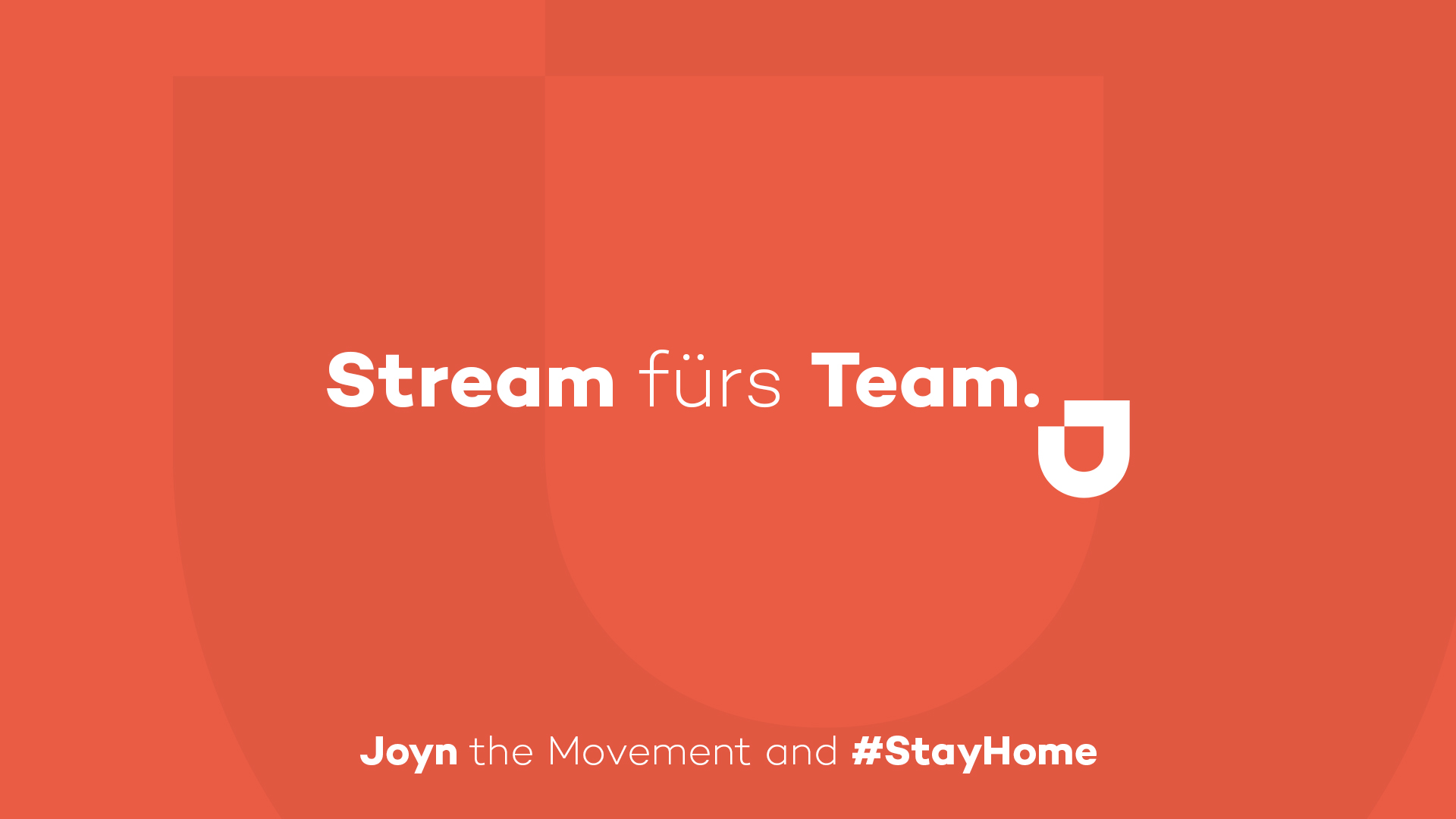 Stream Fürs Team. Joyn The Movement And #stayhome