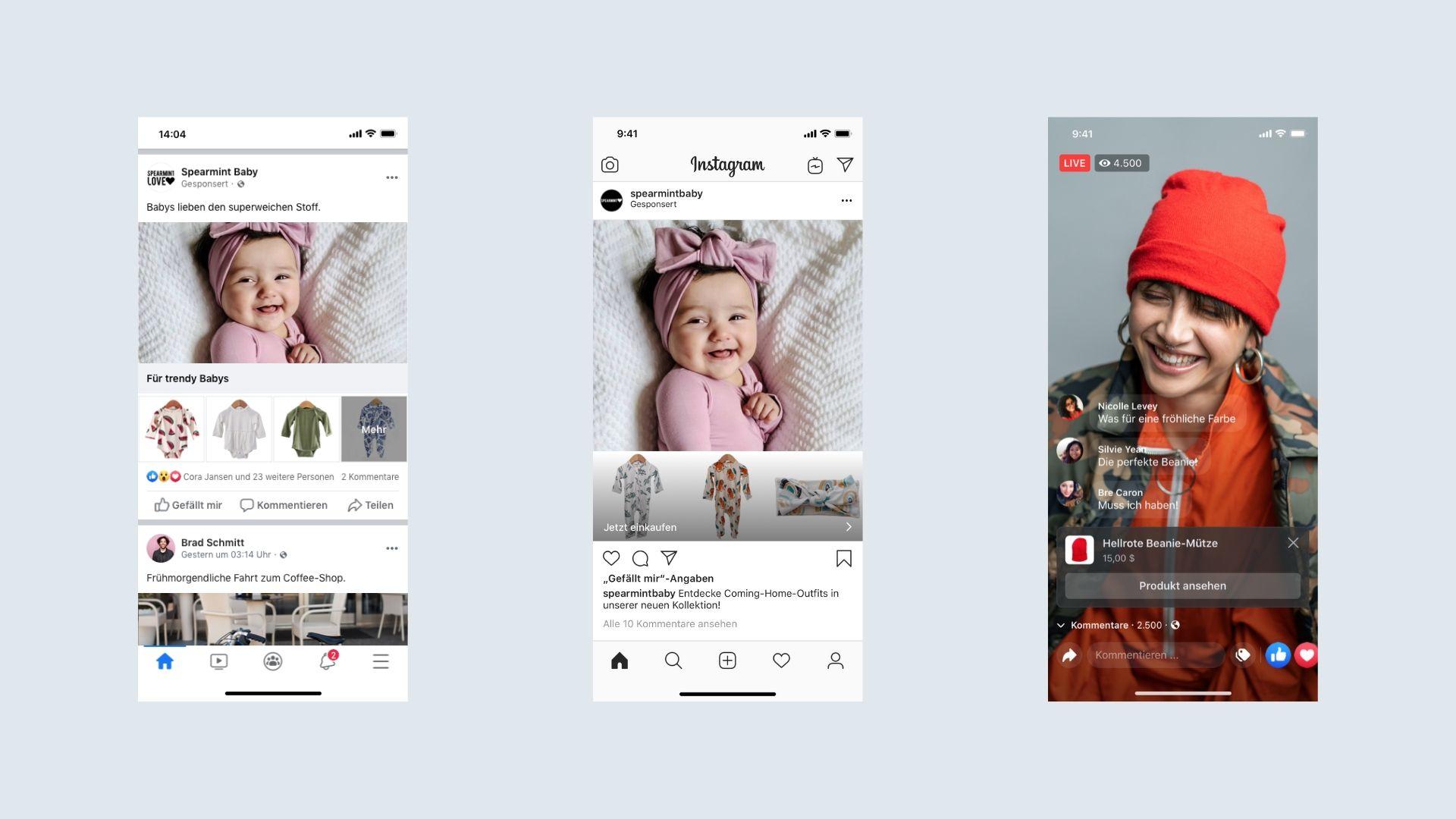 Facebook Shops Instagram Live Stream Header