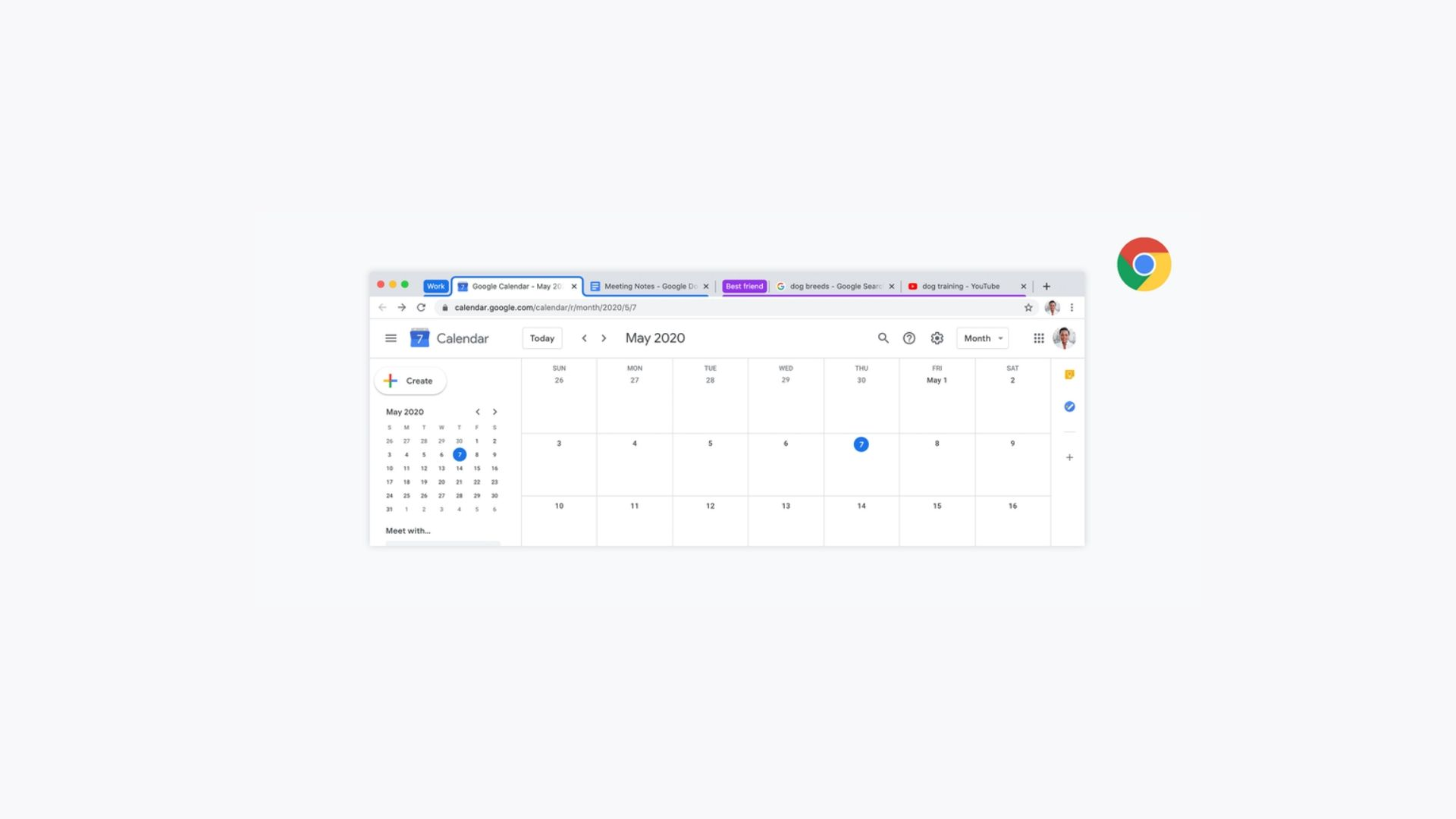 Google Chrome Tab Groups Beta Header