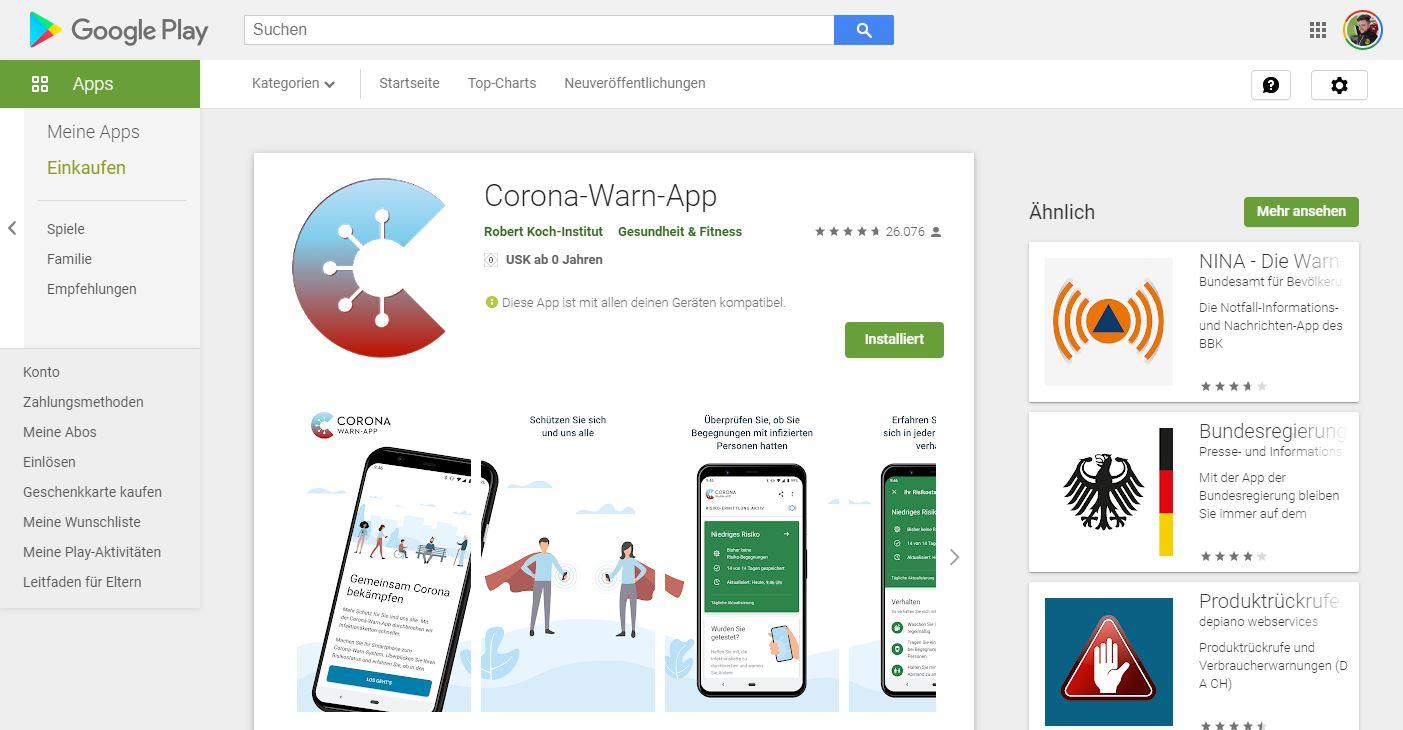 Corona App Downloadzahlen